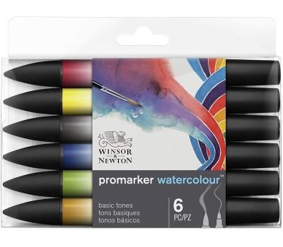 Набор акварельных маркеров Winsor Newton 0290164 Watercolor Markers Set 6 шт.