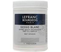 Грунт Lefranc акриловый Acrylic Gesso, 0,5 л арт 300658