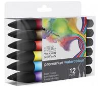 Набор акварельных маркеров Winsor Newton 0290165 Watercolor Markers Set 12 шт.