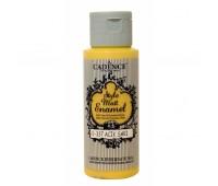 Витражные краски Cadence матовые Style Matt Enamel, 59 мл, № 337, Желтый светлый