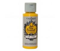 Витражные краски Cadence матовые Style Matt Enamel, 59 мл, № 338, Желтый