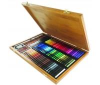 Набор пастели цветной Conte Colour carres assorted 70 цветов + аксессуары арт 750174