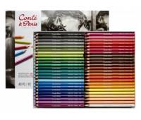 Пастельные карандаши Conte 48 штук в наборе - в картоне арт 500017