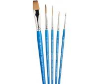 Набор кистей Winsor синтетика Ser. Cotman Brushes 5.2 кр.№0,2,6, л.№1, п.№13 арт 5390603