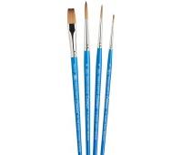 Набор кистей Winsor синтетика Ser. Cotman Brushes 4.1 кр.№1,4,6, п.№10 арт 5390604