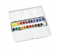 Набор акварельных красок Winsor Professional Water Colour 24 шт металлический бокс 190553