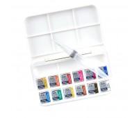 Акварельные краски Winsor Cotman Brash Pen Set, 12 шт + кисть брашпен арт 390658