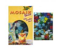 Мозаика, Folia Mosaic-glass tiles 200 гр, 10x10 мм, (Асорті, 300 шт, 10 кол)