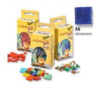 Мозаика, Folia Mosaic-glass tiles 200 гр, 10x10 мм, (300 шт), №36 Ultramarine (Ультрамариновый)