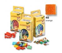 Мозаика, Folia Mosaic-glass tiles 200 гр, 10x10 мм (300 шт) №40 Orange (Оранжевый)