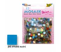 Мозаика Folia Gloss 45 гр, 5x5 мм 700 шт , № 34 Middle blue синий арт 59134