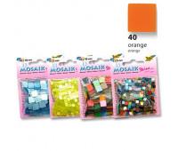 Мозаика Folia Gloss 45 гр, 5x5 мм 700 шт , № 40 Orange Оранжевый арт 59140
