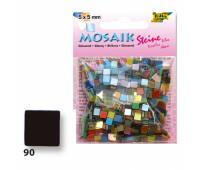Мозаика Folia Gloss 45 гр, 5x5 мм 700 шт , № 90 Black Черный арт 59190