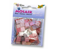 Мозаика Folia глитерна Glitter assortments 45 гр, 10x10 мм 190 шт , № 01 Pink Розовый арт 61201