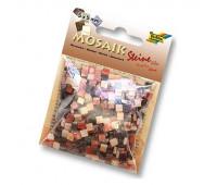 Мозаика Folia мраморная Marbled assortments 45 гр, 5x5 мм 700 шт , № 04 Brown Коричневый арт 62104