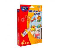 Набор красок витражных Color&Co детский Window color 35 мл арт 807362