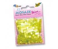 Мозаика Folia Gloss 45 гр, 5x5 мм 700 шт , № 12 Lemon yellow Лимонно-желтый арт 59112