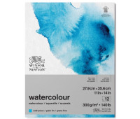 Блок бумаги для акварели Winsor Newton холодного пресса Watercolour aquarelle Classic range, 25,4х35,6 см 12 листов арт. 6667003