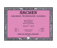 Блок для акварели крупнозернистый Arches Hot Pressed 300 гр, 10x25 см 20 листов арт 1795068