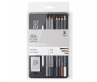 Winsor набор для скетчингу в металле Sketching pensil tin, 10 шт B, 2,3,4,5,6, HB, H, 2,3,4, F арт 490010