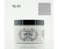 Cadence акриловая краска для создания эффекта состаривания V?ntage Legend, 150 мл, Wihte белый арт VL-01