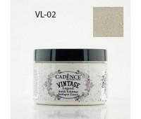 Cadence акриловая краска для создания эффекта состаривания V?ntage Legend, 150 мл, Ecru Серо-бежевый арт VL-02