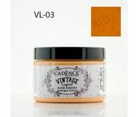 Cadence акриловая краска для создания эффекта состаривания V?ntage Legend, 150 мл, Oxide Yellow Желтый арт VL-03
