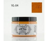 Cadence акриловая краска для создания эффекта состаривания V?ntage Legend, 150 мл, Orange Оранжевый арт VL-04
