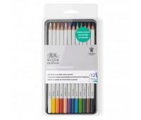 Набор акварельных карандашей в металле Winsor Newton Studio 12 шт 490016