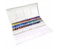Акварельные краски Winsor Newton 45 цветов в пластике арт 390471