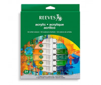 Набор акрила Reeves Acrylic Tube Set, 24 цветов, 10 мл арт 8493202