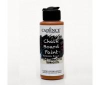 Акриловая краска Cadence для меловых досок Chalk Board Paint, 120 мл, Теракота арт CB120_2540
