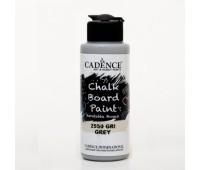 Акриловая краска Cadence для меловых досок Chalk Board Paint, 120 мл, Сірий арт CB120_2550