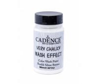 Cadence винтажная краска на акриловой основе Very chalky wash effect, 90 мл, White белый арт WSH_01