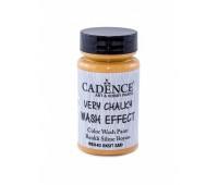 Cadence винтажная краска на акриловой основе Very chalky wash effect, 90 мл, Oxide Yellow Желтый окси арт WSH_03