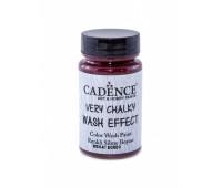 Cadence винтажная краска на акриловой основе Very chalky wash effect, 90 мл, Bordeaux Бордо арт WSH_07