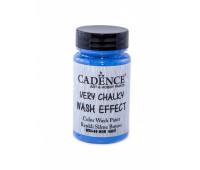 Cadence винтажная краска на акриловой основе Very chalky wash effect, 90 мл, Steel Blue Стальной синие арт WSH_09
