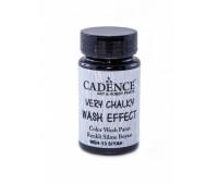 Cadence винтажная краска на акриловой основе Very chalky wash effect, 90 мл, Black Черный арт WSH_13