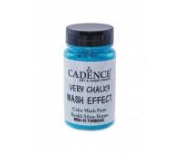 Cadence винтажная краска на акриловой основе Very chalky wash effect, 90 мл, Turquoise Турецкий синие арт WSH_15
