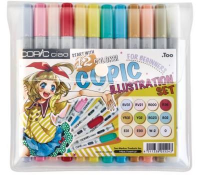 Copic набор маркеров Ciao Illustration 12 шт арт 22075912-1