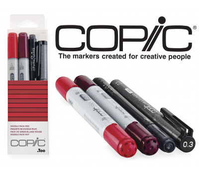 Маркеры Copic Ciao Set Doodle Pack Red 2+1+1 шт 22075641