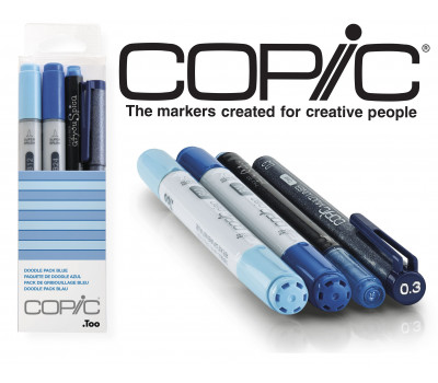 Маркеры Copic Ciao Set Doodle Pack Blue 2+1+1 шт 22075645