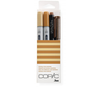 Маркеры Copic Ciao Set Doodle Pack Brown 2+1+1 шт 22075647