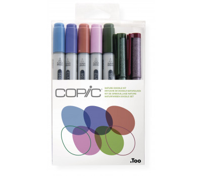Маркеры Copic Ciao Set Doodle Kit Nature 4+2 шт 22075672