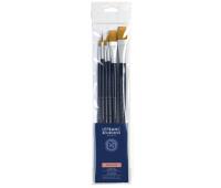 Кисти в наборе Lefranc Fine Synthetic Brushes Set синтетика, 6 шт № 6, 12, 6, 12, 14, 16 арт 300235