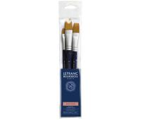 Кисти в наборе Lefranc Fine Synthetic Brushes Set синтетика, 3 шт № 8, 16, 24 арт 300237