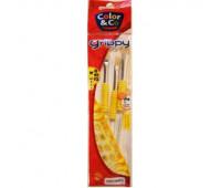 """Кисти в наборе Lefranc Fun brushes """"girls"""" Set щетина, 4 шт № 10, 12, 14, 18 арт 807261"""