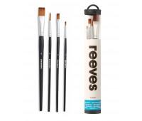 Набор кистей для гуаши Reeves Watercolour Set, 4 шт арт 8210515