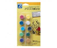 Lefranc набор акрила перламутрового Miss Deco set Deco Gloss, 10шт + кисточка арт 211633