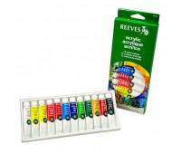 Акриловые краски Reeves Acrylic Tube Set, 12 цветов, 10 мл 8493200